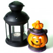 Two Halloween Lanterns — Stock Photo