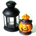 Two Halloween Lanterns — Stock Photo