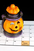 Halloween lantaarn in agenda — Stockfoto