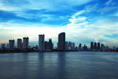 Waterfront high-rise buildings in Bangkok. — Stock Photo