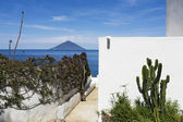 View of Stromboli from Panarea — Stock Photo