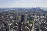 View of south Manhattan from Empire State Building — Stock Photo