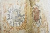 Damaged roman fresco — Stock Photo