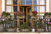 Beautiful italian balcony — Stock Photo