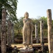 Ancient Buddha statue in Polonnaruwa - vatadage temple, Sri lan — Stock Photo