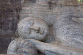 Ancient lying Buddha image, Gal Vihara, Polonnaruwa, Sri Lanka — Stock Photo