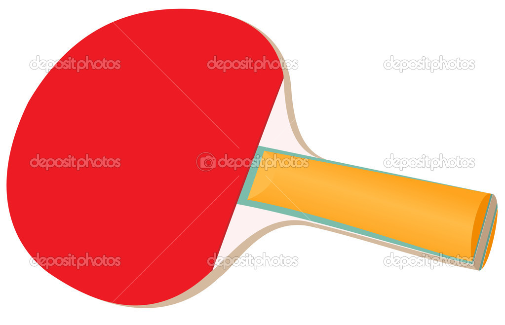 Illustration of a racket for table tennis on a white background — Stock Vector #11186812