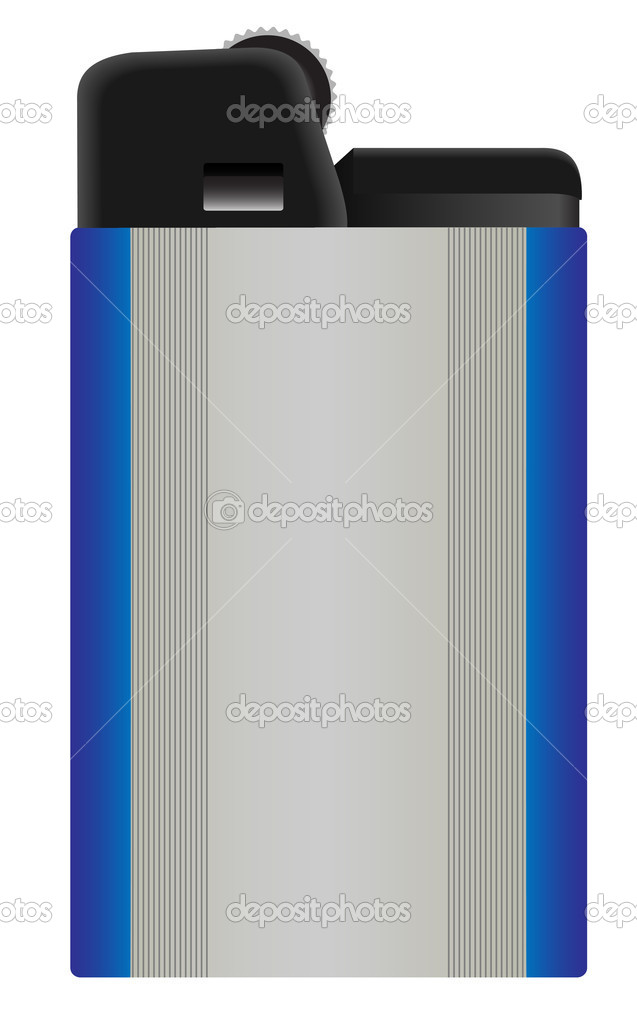 Illustration of a gas lighter on a white background  Stock Vector #11784020