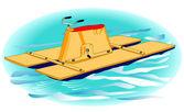 Water bike — Stock Vector