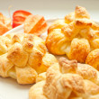 Flaky paste with Physalis — Stok fotoğraf