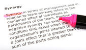 Text highlighted with felt tip pen — Stock Photo