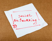 Social Networking — Foto de Stock