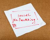 Redes sociais — Foto Stock