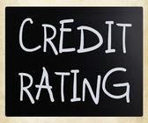 """""""ratingowych"""" ręcznie z białą kredą na tablicy — Zdjęcie stockowe"""