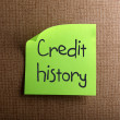 Credit history — Stock Photo