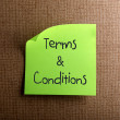 Terms & Conditions - Stock Photo