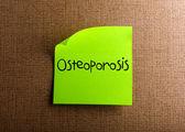 Osteoporosis — Stock Photo