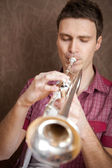 Trumpet player — Foto Stock