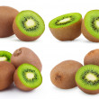 Set of ripe kiwi fruits — Stock Photo