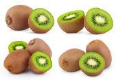 Set of ripe kiwi fruits — Stock Photo