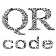 QR code textured text — Stock Photo