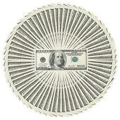 Heap of dollar bank notes — Fotografia Stock