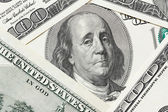 Saddened Franklin cry on the hundred dollar bill — Stock Photo