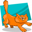 Running red fluffy cat - 图库矢量图片