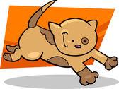 Execução gatinho malhado — Vetorial Stock