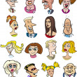 Cartoon characters and emotions - Stock Vector