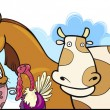 Royalty-Free Stock Vector Image: Cartoon Farm animals design