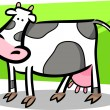 Cartoon doodle of farm cow — Stock Vector