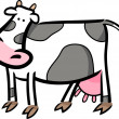 Cartoon doodle of farm cow - Stock Vector