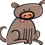 Cartoon doodle of dog — Stock Vector