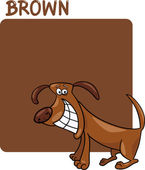 Color Brown and Dog Cartoon — Stock Vector