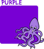 Cor roxo e polvo cartoon — Vetorial Stock
