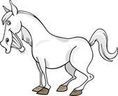 漫画の灰色の馬 — ストックベクタ