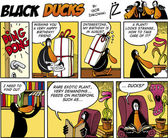 Black ducks comic folge 74 — Stockvektor