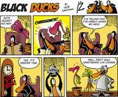 Black Ducks Comics episode 75 — Stock Vector