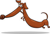 Cartoon happy dachshund dog — Stock Vector