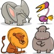 Cute cartoon africanimals set — Stock Vector #11723405