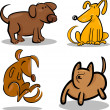Cute cartoon dogs or puppies set - Stockvektor