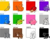 Primary colors cartoon set — Stock Vector