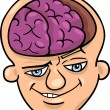 Stock Vector: Brainy mcartoon
