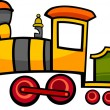 Cartoon train or locomotive - Stock Vector