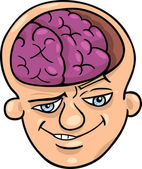Brainy man cartoon — Stock Vector