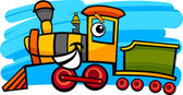 Cartoon locomotive or train character — Stock Vector