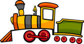 Cartoon train or locomotive — 图库矢量图片
