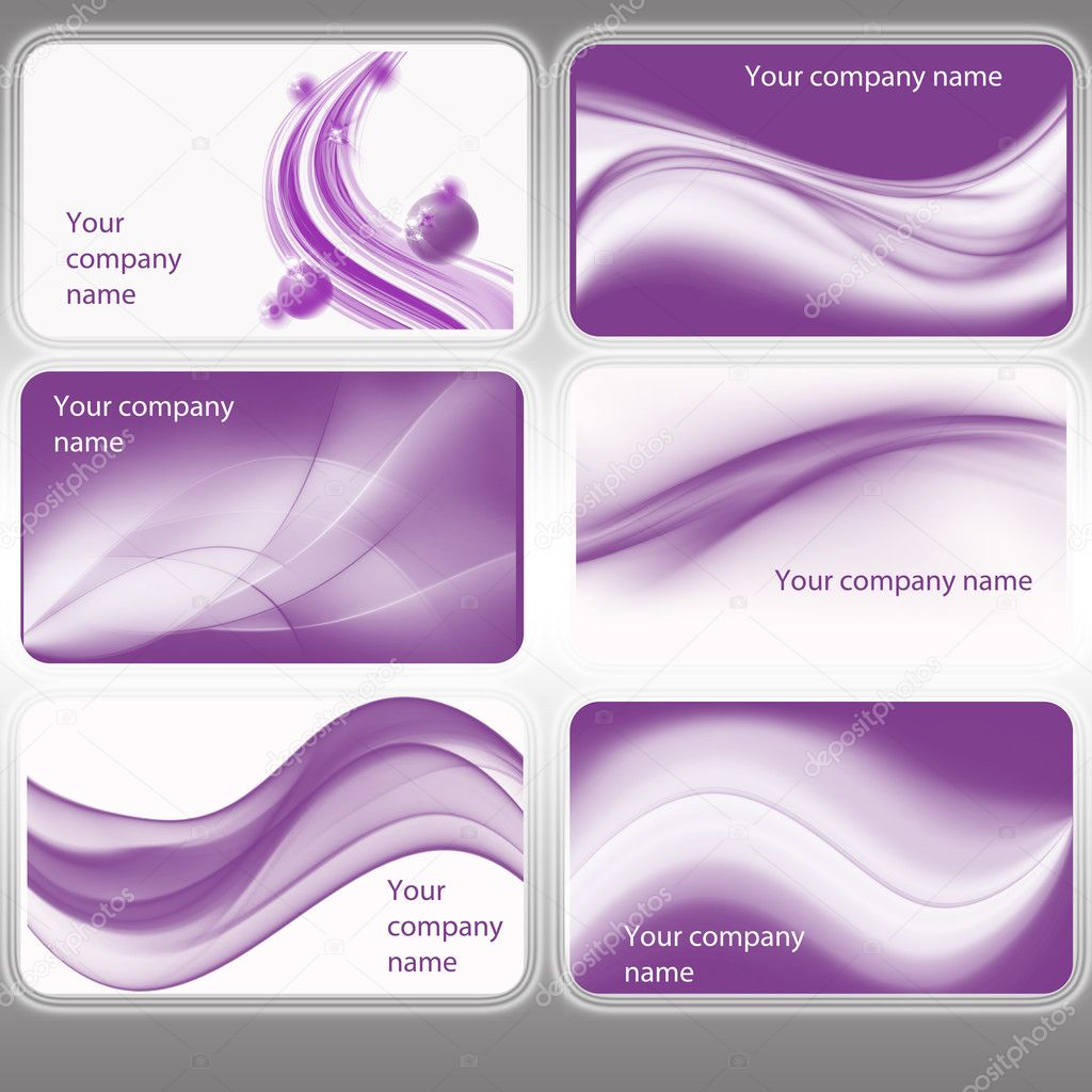 purple business card template - North.fourthwall.co
