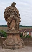 Statues on the Old Main Bridge — Stock Photo